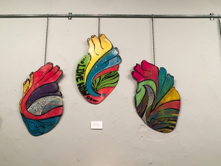 Pieces of Andrés Bustamante's Humanity series on display at Turnip Green Gallery, Dec. 17, 2015.